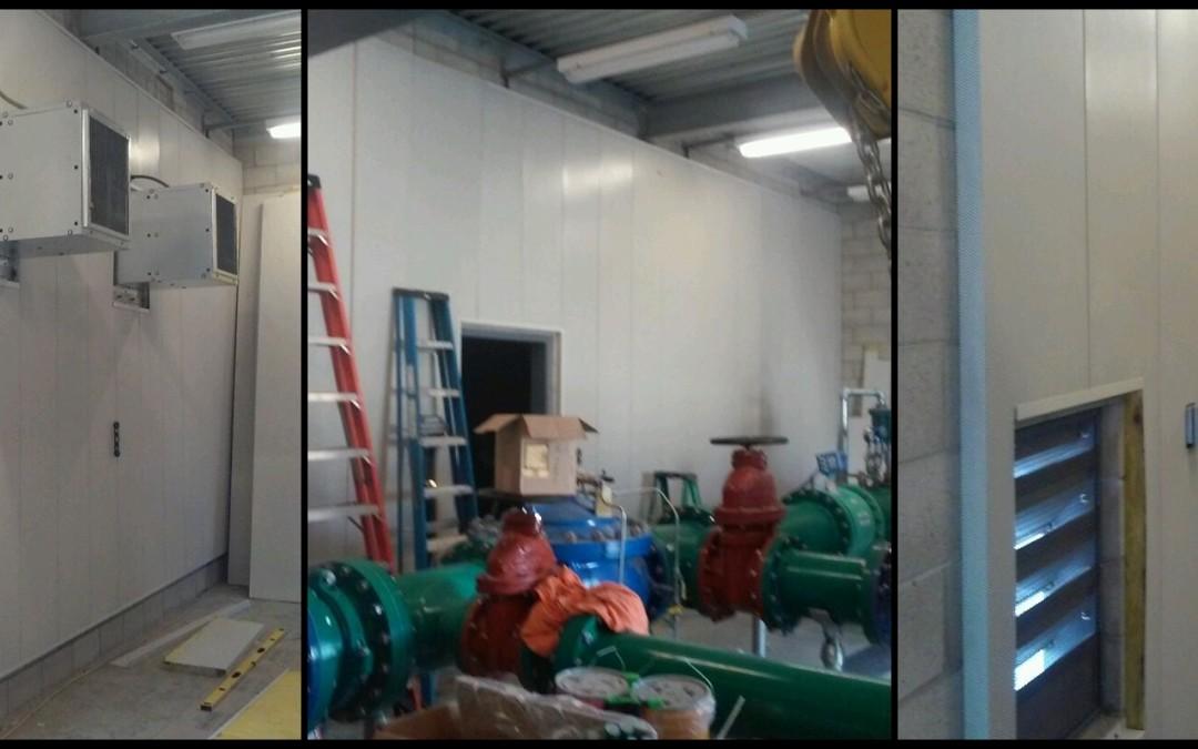 IAC NoiseFoil panel installation begins at Santa Fe Springs Well no 12.